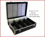 1000 CD DVD Black Aluminum Media Storage Case Mess-Free Holder Box with Sleeves Free Shipping
